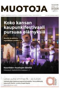Arktinen muotoilu- ja kaupunkifestivaalin Muotoja -lehti